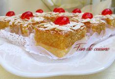 carrés à la crème d'amandes – مربعات بكريمة باللوز – Bnina Breakfast Dessert, Brownie Cookies, Arabic Food, Food Humor, Easy Desserts, Cheesecake, Deserts, Food And Drink, Cooking Recipes