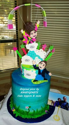 J.c. Casarez says: Picture of the engagement cake made for an engagement party. Customer was thrilled with the cake and center piece. Thanks again for making this order special for my client.