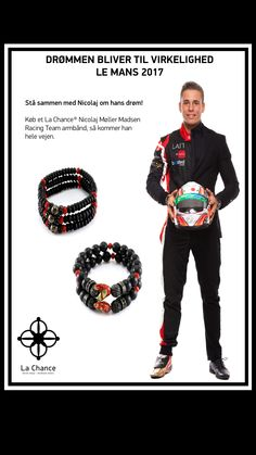 La Chance has made a special design Bracelet to support Nicolaj Møllet Madsen. Be a part of the team!!  Buy on www.lachance.dk/kampagner