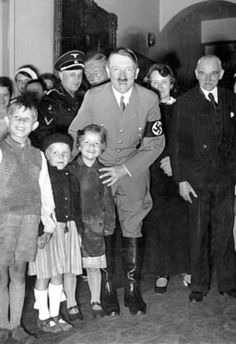 Adolf Hitler and children----these children could not possibly have known they were being used for public relations by this sociopath and his sociopathic cohorts.