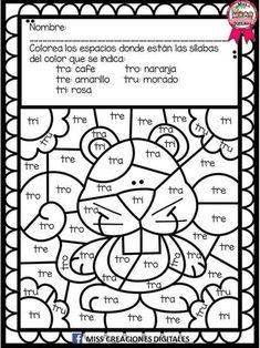 Lectoescritura Spanish Teaching Resources, Spanish Activities, Spanish Language Learning, Kindergarten Math Worksheets, School Worksheets, Preschool Printables, Kindergarten Reading, Reading Intervention, Speech Language Therapy
