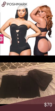 Waist Trainer Killer Curves Clip & Zip +ButtLifter Killer Curves Clip and Zip best selling garment and Classic Buttlifter. The heavy duty clip and zip waist trainer has a double layer of compression featuring a first layer of hook and eye closures topped with a durable and sturdy zip front. This garment can be worn while being active. FelixBoning anchors the waist trainer and prevents rolling up. Butt Lifter defines and lifts. Maximum shaping! Tried on but never worn. Won't work w my dress…