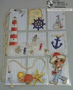 Besties- Navy Pocket Letter