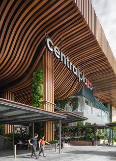 Mall Design, Shop Front Design, Roof Design, Facade Design, Retail Design, Architecture Concept Drawings, Canopy Architecture, Facade Architecture, Mall Facade