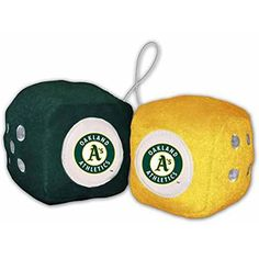 Oakland Athletics Fuzzy Dice