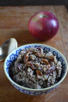 Apple Pecan Breakfast Quinoa | bySarahRae.com