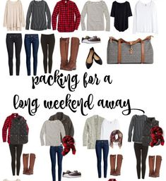 So packen Sie ein langes Wochenende weg · Miss in the Midwest, Mode Outfits, Casual Outfits, Fashion Outfits, Womens Fashion, Fashionable Outfits, Fashion Clothes, Weekend Getaway Outfits, Weekend Trip Packing, Winter Travel Packing