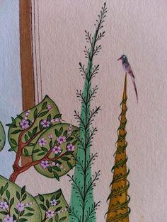 Nurten Ünver - Doğa - detay Chinese Embroidery, Paradise Garden, Turkish Art, Painting Lessons, William Morris, Islamic Art, Cool Photos, Plant Leaves, Photo Galleries