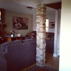 Beautiful Basement Columns Covers