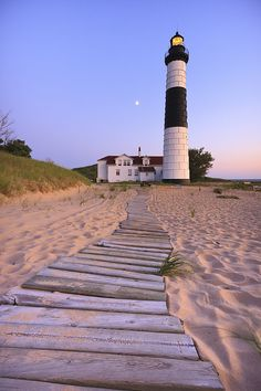 Big Sable Point Lighthouse Print By Adam Romanowicz Lighthouse Pictures, Lighthouse Art, Lighthouse Drawing, Beacon Of Light, Am Meer, Thing 1, Landscape Photography, Sunset Photography, Fine Art America
