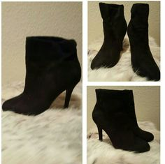 Black Booties Worn once. In great condition. Approximately 4 inches high Shoes Ankle Boots & Booties