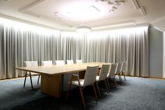 In-tensive table (design Jouni Leino) and Lab chairs (design Harri Korhonen)