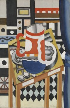 Still Life with a Beer Mug, 1921/22 Léger Framed Canvas Prints, Canvas Frame, Art Prints, Be Still, Still Life, Cubist Movement, Tate Gallery, Abstract Styles, Modern Art