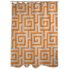 Orange And Grey Shower Curtain With Chevron Towel I Have This - Gray and orange shower curtain
