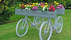 6 ways to transform old bicycles into beautiful garden planters