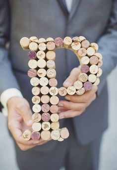 Save your wine corks for making creative giant letters as party or home decor. #PANDORAloves #DIY