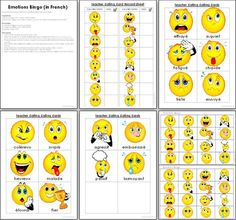 Emotions Bingo in French - Teacher's Marketplace, the online marketplace for teachers, by teachers, with original educational digital resources, lesson plans, worksheet, printables and more!