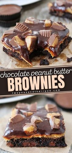 These Chocolate Peanut Butter Brownies are rich, fudgy, and every chocolate lover�s dream! Make your romantic dinner extra sweet with this Valentine's dessert. These brownie has a peanut butter� More
