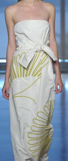 Embroidery at Chadwick Bell Spring 2012