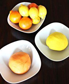 No-Cook Citrus Playdough