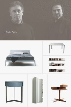 Giuseppe Manente and Abramo Mion start in 1980 Studio Kairos, operating mainly in the field of industrial design, interior design Industrial Design, Interior Design, Studio, Portrait, Building, Furniture, Home Decor, Interior Design Studio, Construction