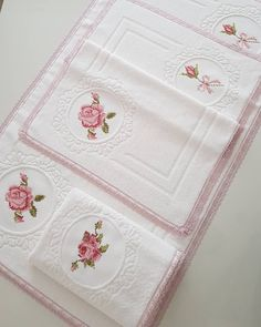 Cross Stitch Embroidery, Bed Sheets, Diy And Crafts, Towel, Magnolia, Instagram, Small Cross Stitch, Baby Buggy, Towels