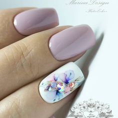 Nail art Christmas - the festive spirit on the nails. Over 70 creative ideas and tutorials - My Nails Fancy Nails, Pink Nails, Cute Nails, Pretty Nails, Perfect Nails, Gorgeous Nails, Hair And Nails, My Nails, Manicure E Pedicure