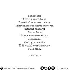 "Spilledinck(—THE THUNDER MOON) (@spilledinck) on Instagram: ""Spilledinck featured writer (@a_coffee_addict_writes) What Is Meant, Meant To Be, Thunder Moon, Full Stop, Semicolon, Sentences, Addiction, Poems, Writer"