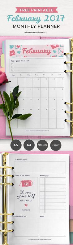 23 best 2017 monthly planner images on Pinterest in 2018 Blue