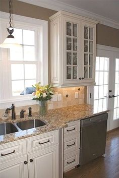 kitchen wall backsplash white cabinets with brushed satin nickel finishes low 3445