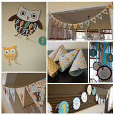 cute owl and mickey bday party ideas... and wait till you see the picture of the kid with the cake!  Too funny!