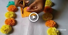 easy paper flowers How to make Marigold flowers with crepe paper l paper craft ideas l very easy DIY l home decor l Printing On Tissue Paper, Tissue Paper Art, Crepe Paper Crafts, Toilet Paper Roll Crafts, Easy Paper Flowers, Tissue Paper Flowers, Mehndi, Phineas Y Ferb, Marigold Flower
