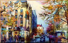 City - 269 Городской пейзах, картины, подарки
