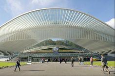 Railway station Liège Guillemins designed by Santiago Calatrava, Liège (Belgium)