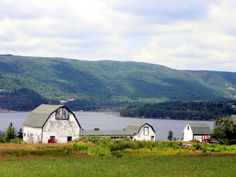 """""""The Gaelic Farm """", our cottage neighbour. Big Bras D' Or, C. Beautiful Buildings, Beautiful Places, Cap Breton, Acadie, Cabot Trail, Shed Cabin, Enchanted Island, Atlantic Canada, Old Barns"""