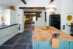 Love this island...the color the butcher block,what's not to love?