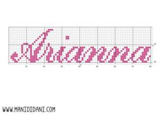 Daniela Ceriana uploaded this image to 'Schemi punto croce'. See the album on Photobucket. Cross Stitch, Arts And Crafts, Flag, Album, Straight Stitch, Names, Patterns, Needlepoint, Typography Fonts