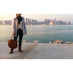 We love this skyline...   TheTan Talega in Doha.