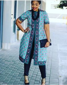 ANKARA STYLES #28 : COAT DRESS