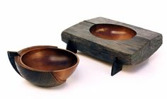 I like the plank piece with the bowl hollow.