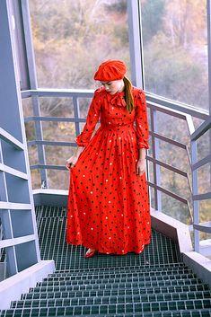 VivienMihalish / Hodvábno-viskózne šaty s palmičkami Dresses With Sleeves, My Style, Long Sleeve, Clothes, Fashion, Outfits, Moda, Clothing, Sleeve Dresses