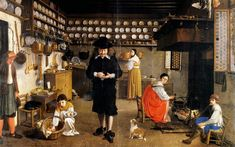 Wolfgang Heimbach Kitchen interior Oil on canvas : 58 X 78 cm Monogrammed and dated 1648 17th Century, Kitchen Interior, The Dreamers, Oil On Canvas, Medieval, Art Pieces, Arts And Crafts, Exterior, History