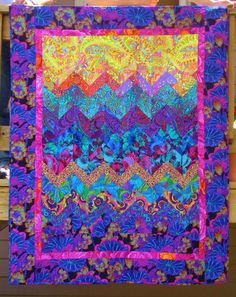Sunset over the Rockies --quilt inspired by Kaffe Fassett fabrics. by btorin at Etsy