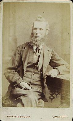 www.pastonpaper.com | Carte de Visite of Henry Stott Facial Hair, Old Photos, Carte De Visite, Old Pictures, Face Hair, Vintage Photos