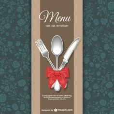 Restaurant menu disegno floreale