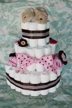 Cómo hacer una torta de pañales – Souvenirs Ma Cristina