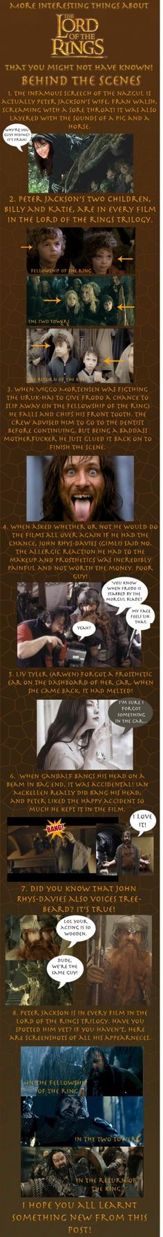 LotR Behind the Scenes Facts