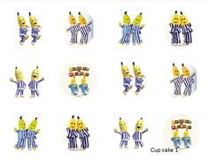 Bananas In Pajamas Edible Cupcake Topper Round Icing Choose Your Design In  Home U0026 Garden, Parties, Occasions, Cake