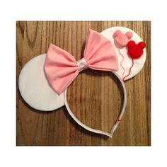 Mickey Balloons Mouse Ears in White by ShopHouseOfMouse on Etsy Diy Disney Ears, Disney Mickey Ears, Disney Bows, Disney Diy, Disney Crafts, Mickey Mouse, Disney Ideas, Disney Cruise, Disney Headbands