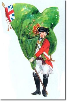 Regimental Colours of the 55th Foot, 1777.